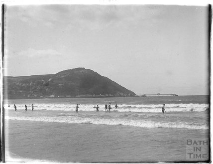 Bathing at Minehead, 1927