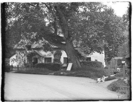 Village scene near Minehead, 1931