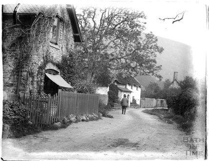 Village scene, near Minehead, c. 1926-30