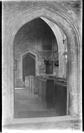 Inside St Giles' Church, Leigh on Mendip, Somerset, c.1930s