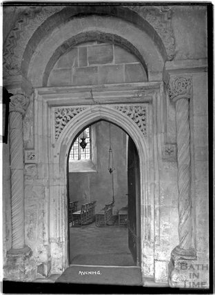 Doorway, Church of the Holy Cross, Avening, Gloucestershire, c.1930s