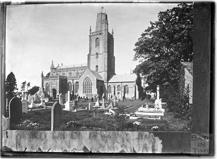 A photograph of a photograph of Yatton Church Somerset c.1900?