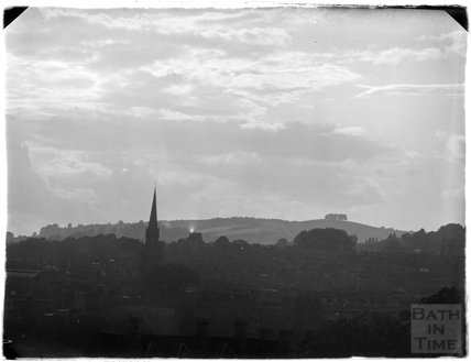 View towards Kelston Roundhill from Sydney Buildings, c.1950s