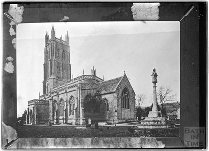 A photograph of a photograph of Wrington Church, Somerset, c.1930s?