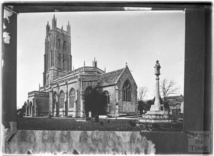 A photograph of a photograph of Wrington Church, Somerset c.1930s?