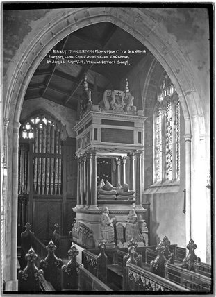Memorial inside St John's Church, Wellington, Somerset c.1930s