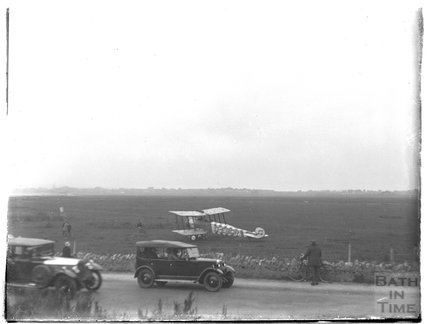 Biplane on Lansdown, Bath, c.1926-30