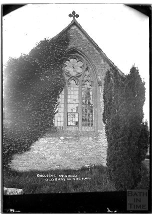 Bullseye Window, St Arilda's Church, Oldbury on the Hill, near Didmarton, Gloucestershire, c.1930s