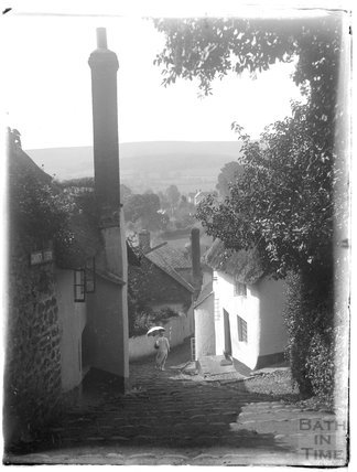 Church Steps, in the vicinity of the Church of St Michael, Minehead, 1926