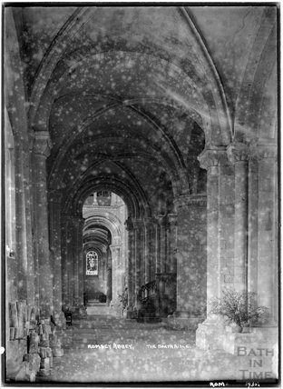 Romsey Abbey, the north aisle, Hampshire, 1935
