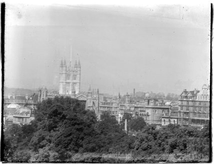 View of Bath Abbey from Sydney Buildings, c.1950s