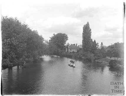 Punting on the River, possibly at Henley on Thames, c.1926-30