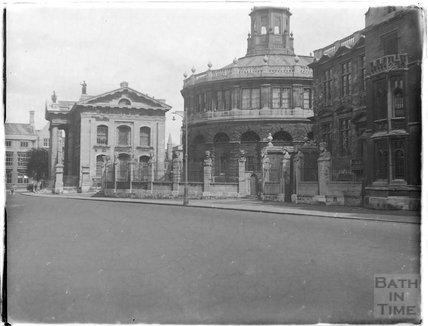 The Sheldonian Theatre (r) and Clarendon building (l.) Oxford, c.1926-30