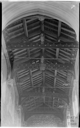 Roof of knave, St Giles' Church, Leigh on Mendip, Somerset, c.1931