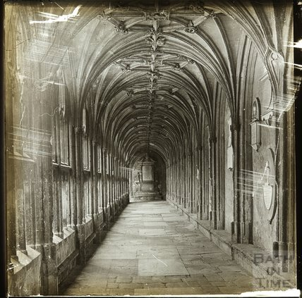 The West Cloister, Wells Cathedral (looking South), c.1900