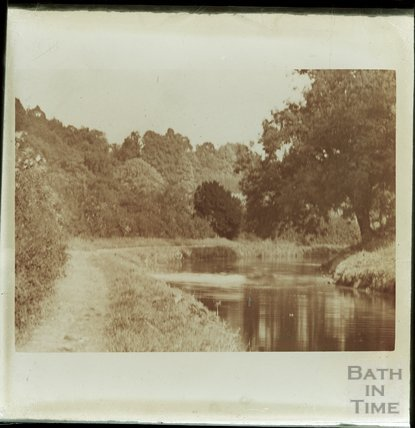 Unidentified river or canal scene c.1900