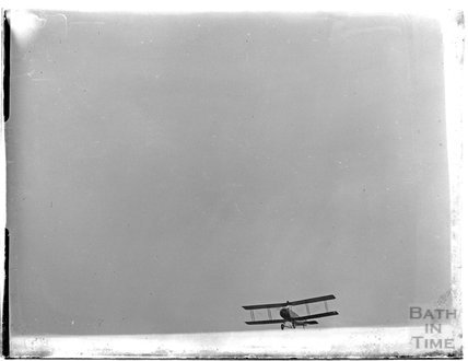 Biplane at an unknown location, c.1926-30