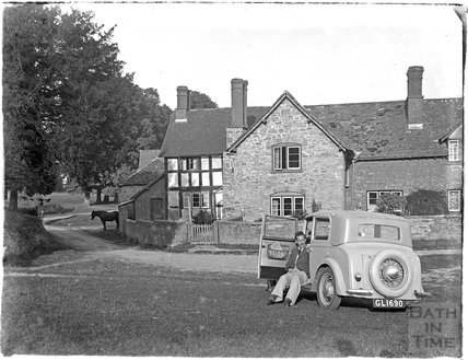 Village scene Kilpeck, Herefordshire, late 1930s