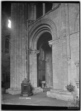 Inside Romsey Abbey, Hampshire, c.1935