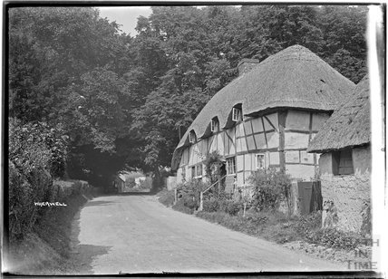 Thatched Cottage, Wherwell, near Andover,  Hampshire, c.1930s