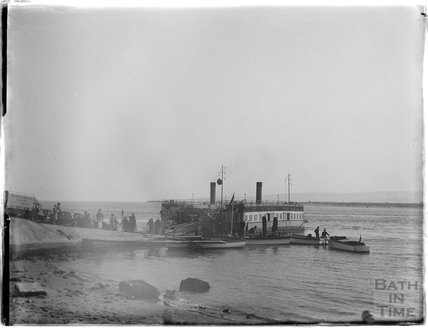 Sandbanks Ferry near Poole, Dorset, 1929