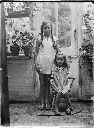 Two young girls, Wherwell, Andover, Hampshire, c.1930s