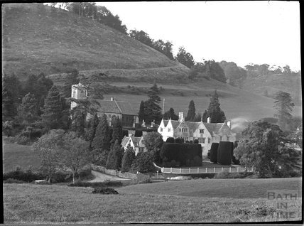 Owlpen Manor and church, near Dursley, Gloucestershire, c.1930s