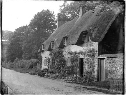 Thatched Cottages, Wherwell, Andover, Hampshire, c.1930s