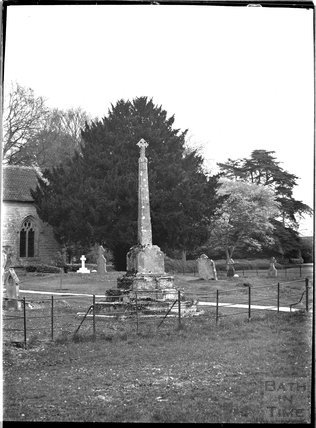 Church memorial, Alford, near Castle Carey, Somerset, c.1930s
