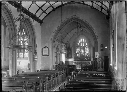 Inside St ChristopherÕs Church, Lympsham, near Weston-Super-Mare, Somerset, c.1930s