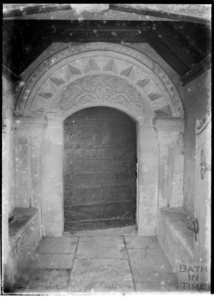 Unidentified Norman church doorway, c.1930s
