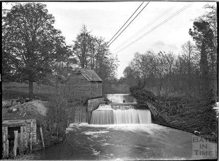 Riverside scene, probably Alford, near Castle Carey, Somerset, c.1930s