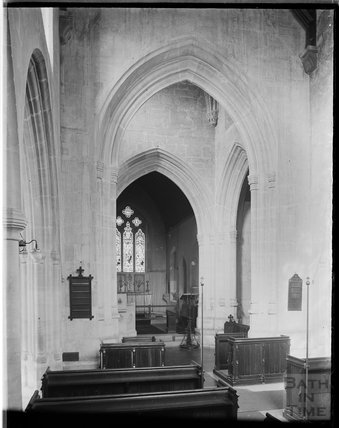Inside St James Church, Bratton, near Westbury, Wiltshire, c.1930s