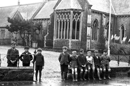 A group of children at Lympsham, near Weston-Super-Mare c.1930 - detail