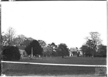 All Saints Church, and Alford House, near Castle Carey, Somerset, c.1930s