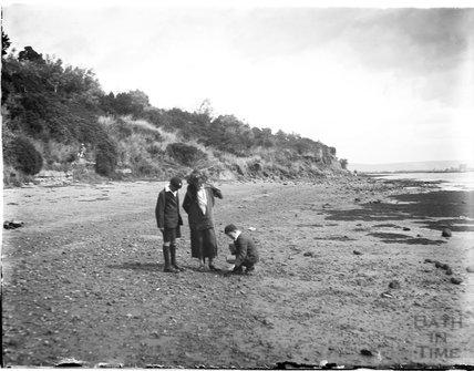 On the beach near Weymouth, Dorset, 1924
