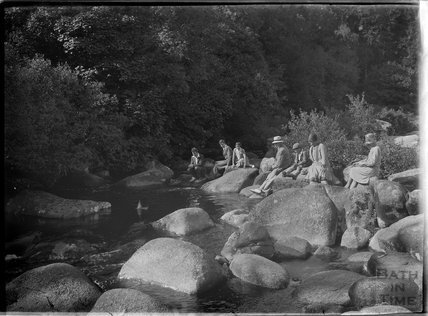 By the river, Dartmoor, Devon, c.1930s