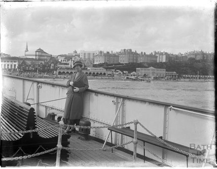 On a boat moored at Bournemouth, Dorset, 1924