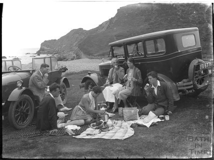 Family picnic, Dartmoor, Devon, c.1930s