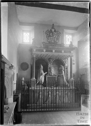 Memorial inside St Nicholas's Church, Sapperton, Gloucestershire, c.1930s