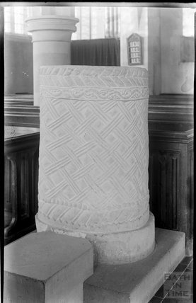 Unidentified church font, c.1930s