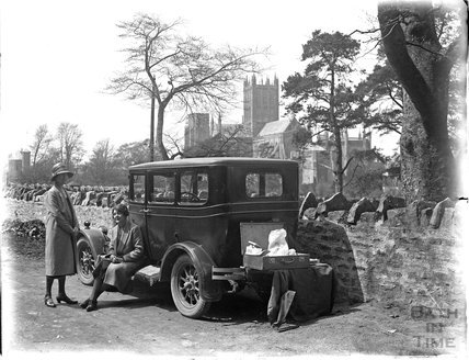 Picnicking near Wells, Somerset, c.1924