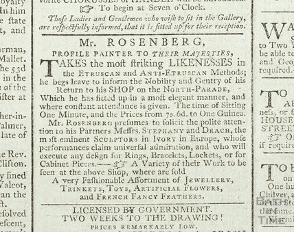 Mr Rosenberg, profile painter to their Majesties, 1792