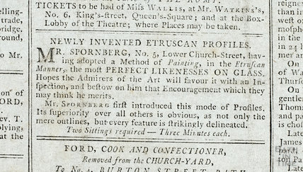 Newly invented Etruscan Profiles, Mr Spornberg, No 5 Lower Church Street Bath, 1792