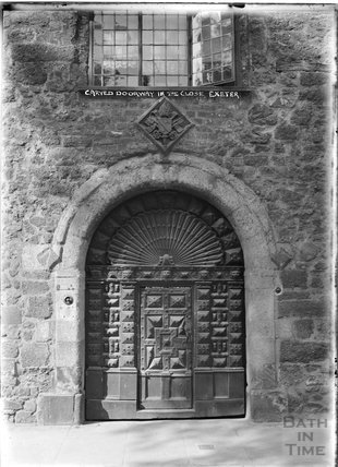 Carved Doorway in the Close, Exeter Cathedral, Devon c.1905