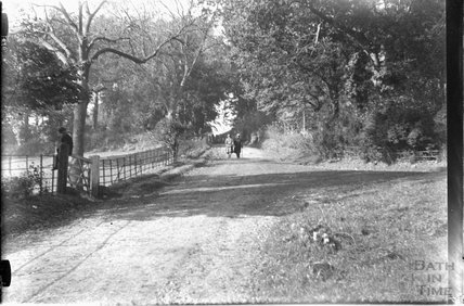 Claverton Hill, with the entrance to Claverton Manor to the right, c.1920s