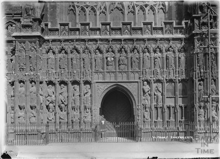 The West Front, Exeter Cathedral, Devon c.1905