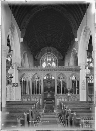 Inside St Michael and All Angels Church, Alphington near Exeter, Devon c.1930s