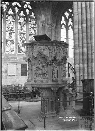 Martyr's Pulpit, Exeter Cathedral, Devon c.1905
