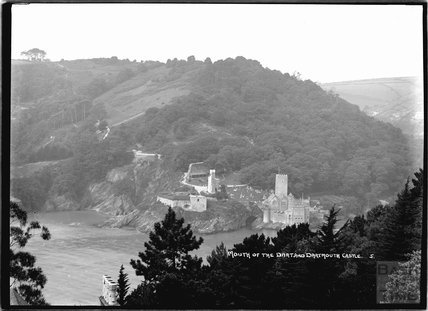 View of the Mouth of the Dart, and Dartmouth Castle, Devon, No 5 c.1930s